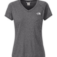 The North Face Women's Shirts & Tops T-Shirts WOMEN'S SHORT-SLEEVE REAXION AMP V-NECK TEE