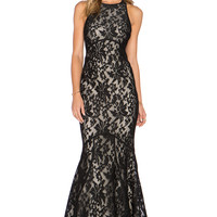 JARLO Carmelita Maxi Dress in Black Lace