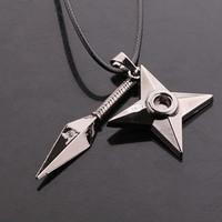 Shuriken + Kunai Combo Necklace