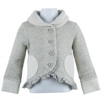 Naartjie Kids | Baby Girl Clothes | French Terry Asymmetrical Cowl Neck Jacket