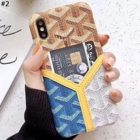 Goyard Tide brand color matching iphone xs max phone case #2