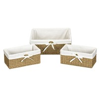 Seagrass Lined Baskets-Set of 3