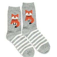 Fox Graphic Crew Socks