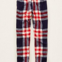 Aerie Women's Flannel Jogger (Navy)