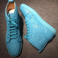 Christian Louboutin CL Python Style #2264 Sneakers Fashion Shoes Online