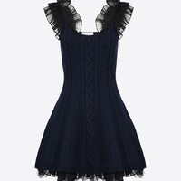 Valentino Knitted Tutu Dress With Tulle, Dresses for Women - Valentino Online Boutique