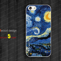 NEW case for iphone 5 iphone 5 cases  iphone 5 cover the best iphone case starry night paint image unique design