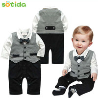 Baby pants jammed unlined upper garment of a new baby boy gentleman modelling gentleman suit long-sleeved clothes