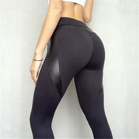 Butt Lifting Compression Sport Leggings, Yoga Pants, Black High Waist Sport Leggings for Women