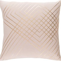 Crescent Throw Pillow Pink, Yellow
