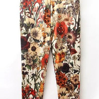 Multicolor Floral Pants