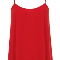 Red swing cami top