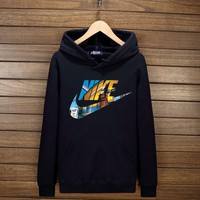 Nike Hooded Zipper Cardigan Sweatshirt Jacket Coat Windbreaker Sportswear F-YSSA-Z Dark blue