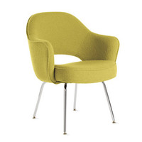 Saarinen Executive Armchair Metal in fabric - Design Within Reach