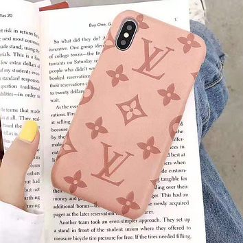 Louis Vuitton LV Newest iPhone Phone Cover Case For iphone 6 6s 6plus 6s-plus 7 7plus iPhone X XR XS XS MAX Pink