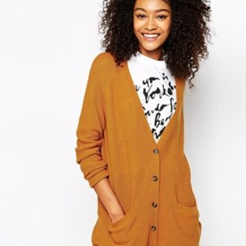 Monki Contrast Detail Cardigan at asos.com