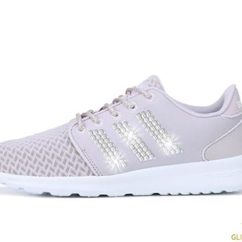 CLEARANCE - Women's Adidas Cloudfoam QT Racer + Crystals - Ice Purple - Size 5