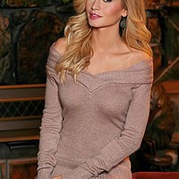 Rose (RS) Off The Shoulder Sweater