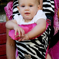 Zoe Zebra Front Pack Carrier Cover