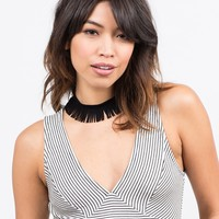 Fringe Out Choker Necklace