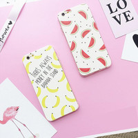 Banana and watermelon mobile phone case for iPhone 7 7 plus  iphone 5 5s SE 6 6s 6 plus 6s plus + Nice gift box 71501