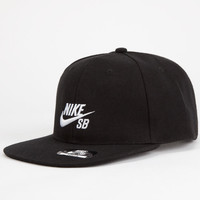 Nike Sb Icon Boys Snapback Hat Black One Size For Women 25283510001