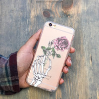 Clear TPU Case Cover for Apple iPhone - Crane Rose