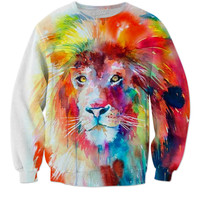 Rainbow lion sweat shirt