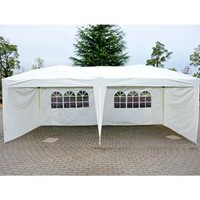 10' x 20' Gazebo Pop-Up Tent with Walls – Cream