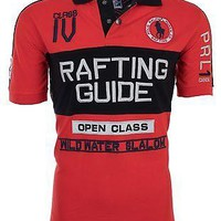 Licensed Official POLO RALPH LAUREN Mens Custom Fit EMBROIDERED Red POLO SHIRT Rafting Guide $145
