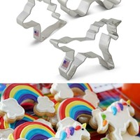 Unicorn & Rainbow Cookie Cutter SET
