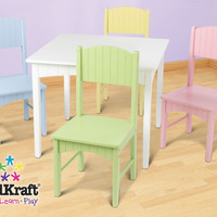 KidKraft Nantucket Table & 4 Pastel Chairs - 26101
