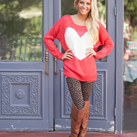 I Heart Style Sweater Coral