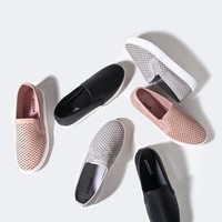 Perforated Slip On Sneaker