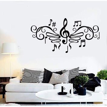 Wall Stickers Vinyl Decal Sheet Music for Living Room ig1334