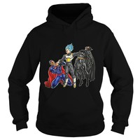 Vegeta Superman Batman shirt Hoodie
