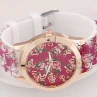 Rose Floral Watch