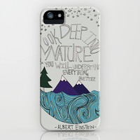 Einstein: Nature iPhone & iPod Case by Leah Flores