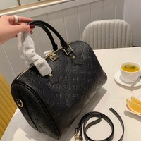 HCXX 19Nov 211 Louis Vuitton LV Speedy Handle Shoulder Crossbody Large Capacity Duffel Bag 30cm