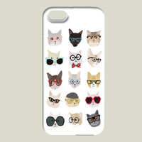 Cats With Glasses iPhone case by HannaMelin on BoomBoomPrints