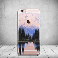 Mountain iPhone 6 Case Clear iPhone 6s Case Clear iPhone 6 Case iPhone 5s Case iPhone 6s Plus Case Soft Silicone iPhone Case
