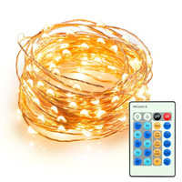 Dimmable Led String Lights, 100 Leds Twinkle lights 33 ft Copper Wire Lights for Indoor Outdoor, Christmas Decorative Lights