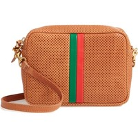 Clare V. Midi Sac Perforated Leather Crossbody Bag | Nordstrom