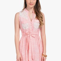 Pink Country Girl Pretty Sleeveless Dress | $10.00 | Cheap Trendy Casual Dresses Chic Discount Fashi