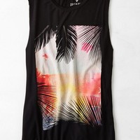AEO Women's Soft & Sexy Graphic Tank (True Black)