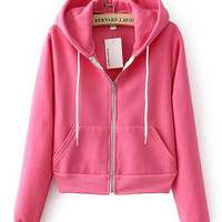 Long Sleeve Zip Hooded Jacket