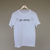 Go Away Text - White