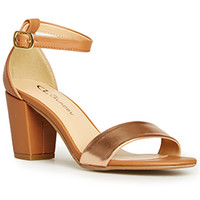 DailyLook: CL by Chinese Laundry Janella Block Heels in Rose Gold 8.5 - 9.5