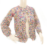 Multi Color Speckled Knit Sweater