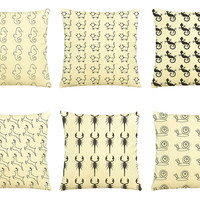 Kids Style Animal-100% Cotton Decorative Throw Pillow Cover Cushion Case VPLC_03